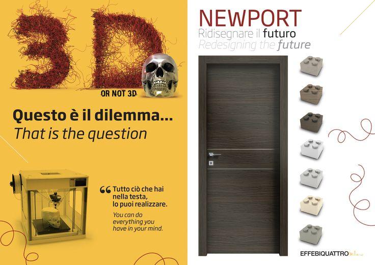 Il design insieme alla tecnologia delle cerniere a scomparsa e la fonoassorbenza rendono unica la porta 'Newport'.