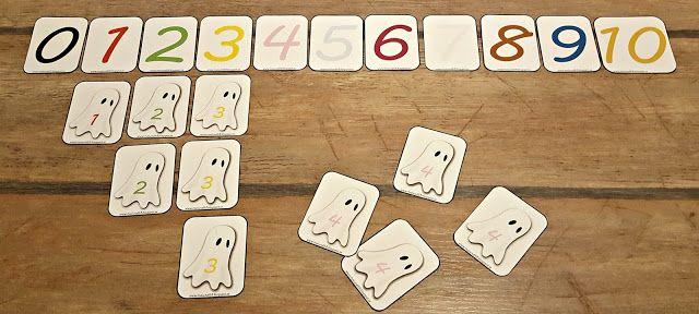 Gratis material till förskolebarn: Spökmatematik 0-10