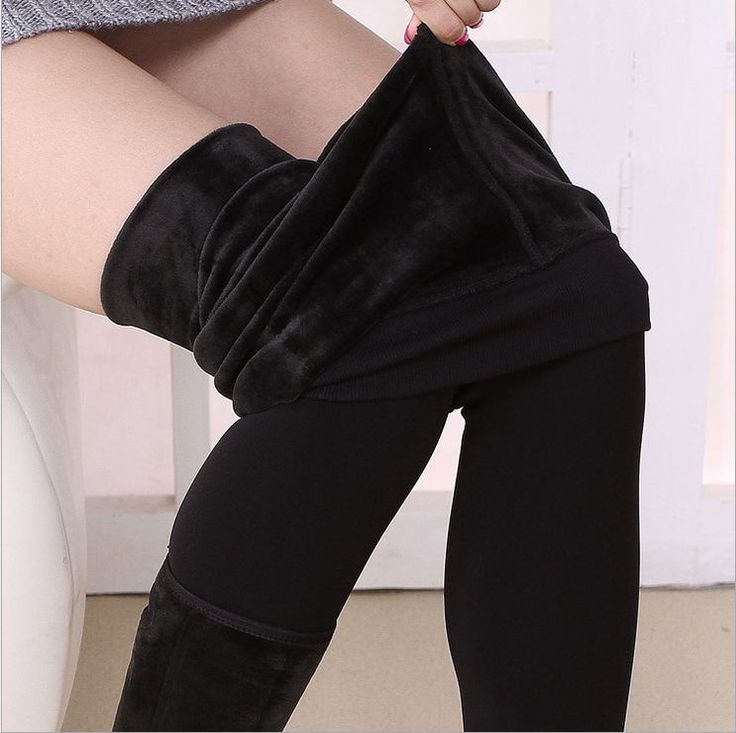 Trend Knitting S-XL2016 New Autumn And Winter Women's Fashion High Waist Pants And Good Quality Thick Velvet Leggings Pants