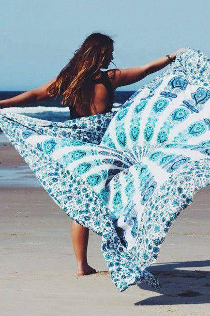 Goddess Mandala beach throw via Her Empire Boutique #boho #beachblanket