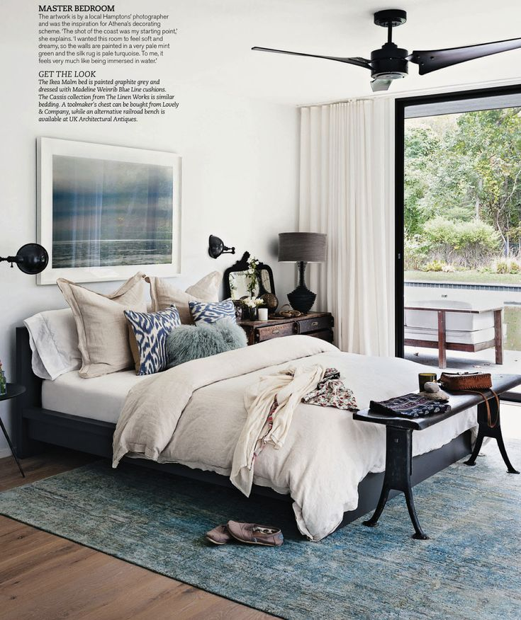 blue and gray bedroom (living etc)