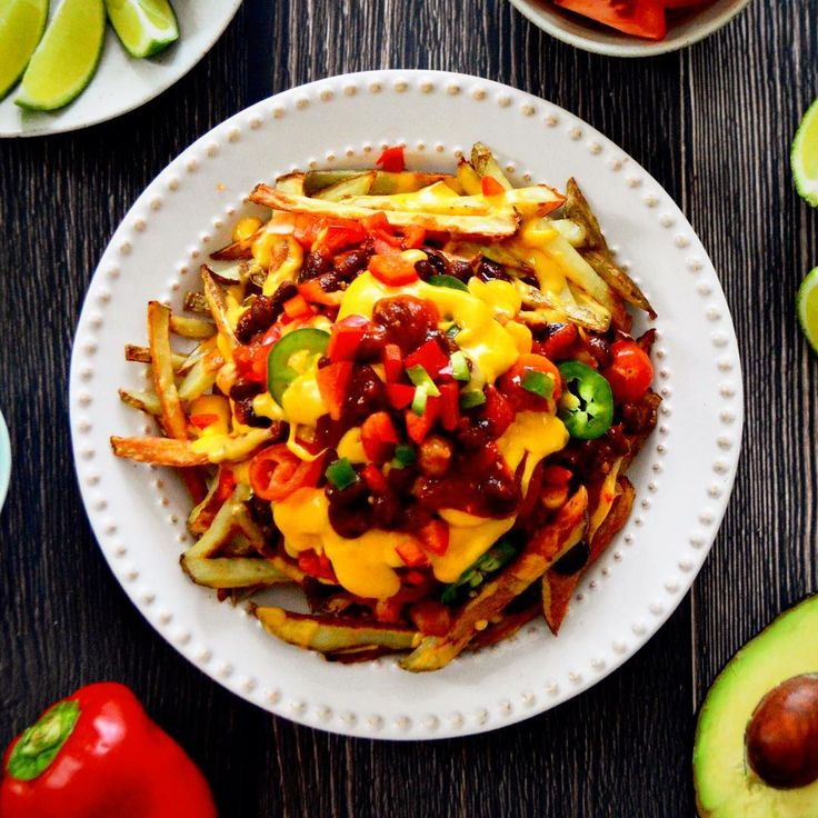 Vegan Chilli Cheese Fries  Yes! This is vegan! But shhh.... don't tell any one and see if they can guess!!