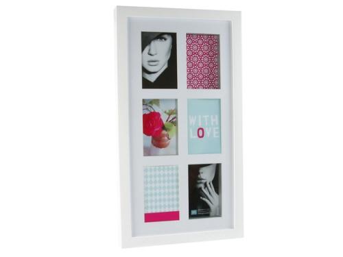 Fotolijst Memoire wit € 42,50  Materiaal: hout, MDF en glas Afmetingen: 32 cm breed, 58,5 cm hoog, 4 cm dik