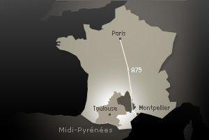 Carte de l'Aveyron en France