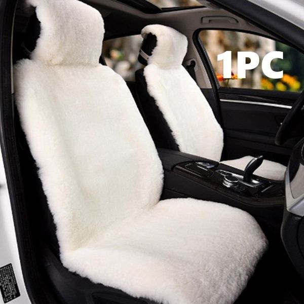 Universal Wool Car Seat Cover Faux Fur Imitation Wool Sheepskin Fur Car Seat Covers Cushion Wish In 2021 Sheepskin Car Seat Covers Carseat Cover Diy Car Seat Cover