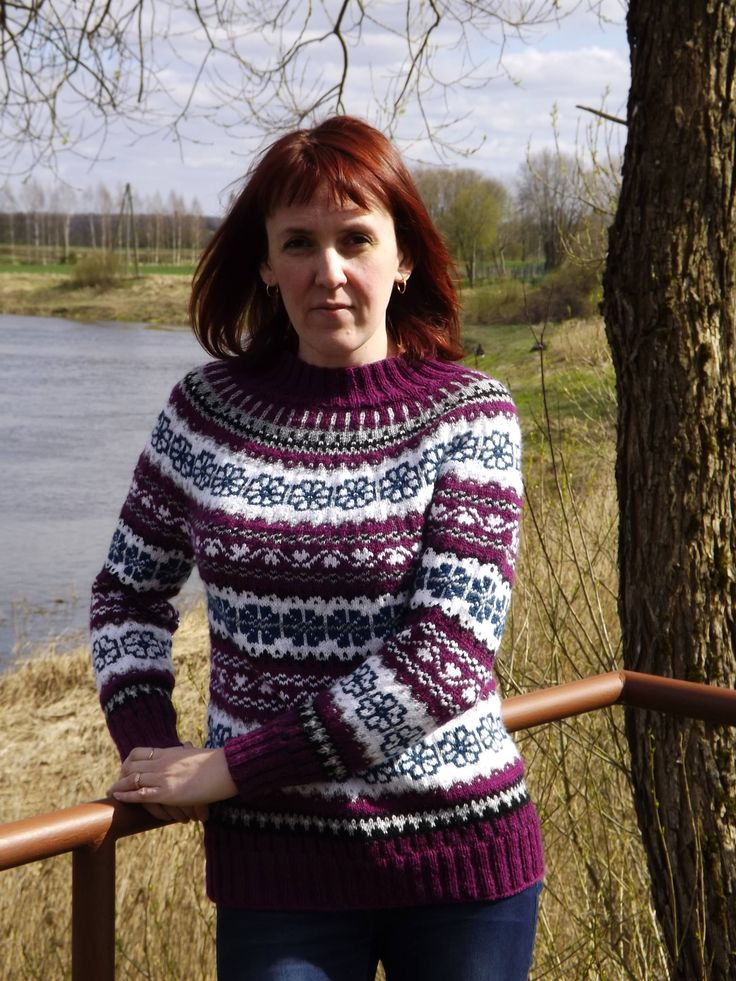 Icelandic sweater Norwegian sweater Fair isle Womens sweater  Multicolored sweater by TriinasHandmade on Etsy