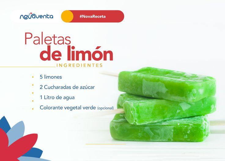 ¡El limón es increíble en cualquier preparación! 🍋 😊Refréscate con nuestro #IngredientedelMes 😎 >>> 1. Mezcla el agua con el jugo de los limones y el azúcar. 2. Añade un poco de colorante vegetal para que se vean más atractivas. 3. Viértelas sobre moldes de paleta. 4. Refrigera por una hora aproximadamente. ¡Listo!