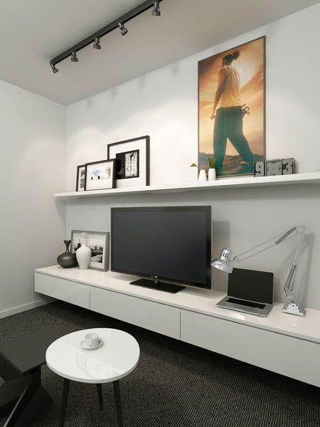 Inspiration sous-sol - Unité de rangement aux lignes épurées - Clean lines sleek entertainment unit