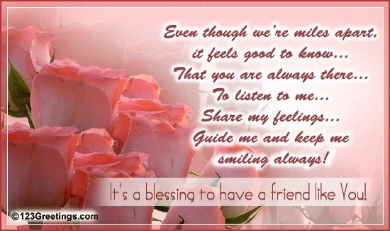 best friend birthday message   For A Friend Who's A Blessing...