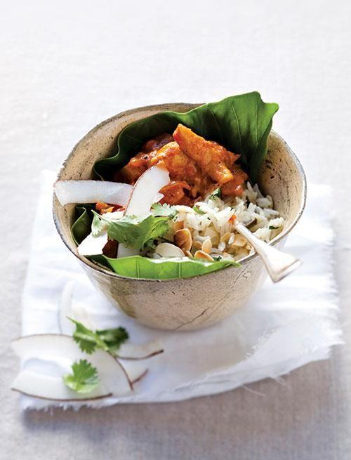 Tasty chicken curry.