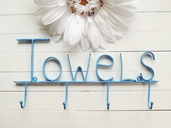Metal Towel Rack, Towel Holder, Towel Hook, Bath Decor, For the Home, Beach Decor, Pool Decor, Outdoor Kitchen.    ♥ 34 COLORS TO CHOOSE FROM ♥