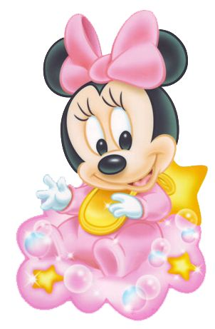 Baby Minnie Sit on Cloud