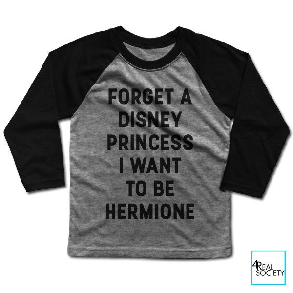 Forget A Disney Princess I Want To Be Hermione   Harry Potter   Books Collection   Kids Baseball T-shirt by 4RealSociety on Etsy