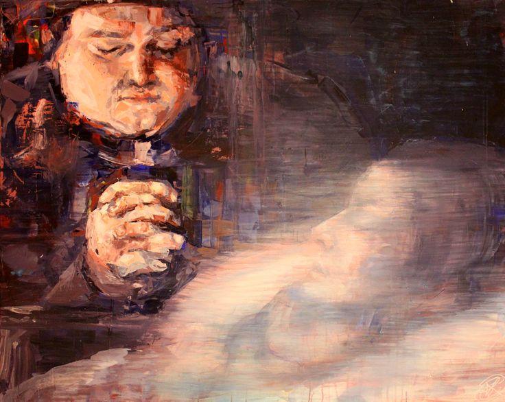 """""""Mort de Madame de Lardillière"""", 130x160cm, Acrylique sur toile, Paris 2013  http://henrilamy.fr/La-Desoeuvre"""