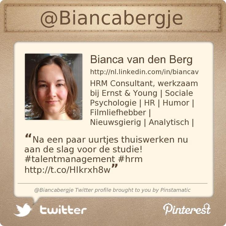 @Biancabergje's Twitter profile courtesy of @Pinstamatic (http://pinstamatic.com)