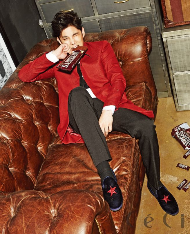 Super Junior's Kangin was a well-dressed gentleman in the February 2015 issue of Ceci.