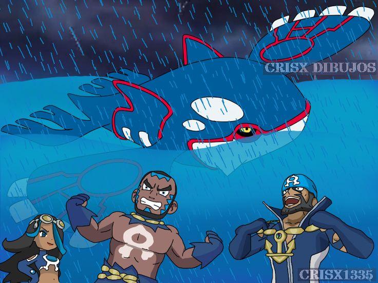 Team Aqua and Kyogre Pokemon Alpha Sapphire by crisx1335