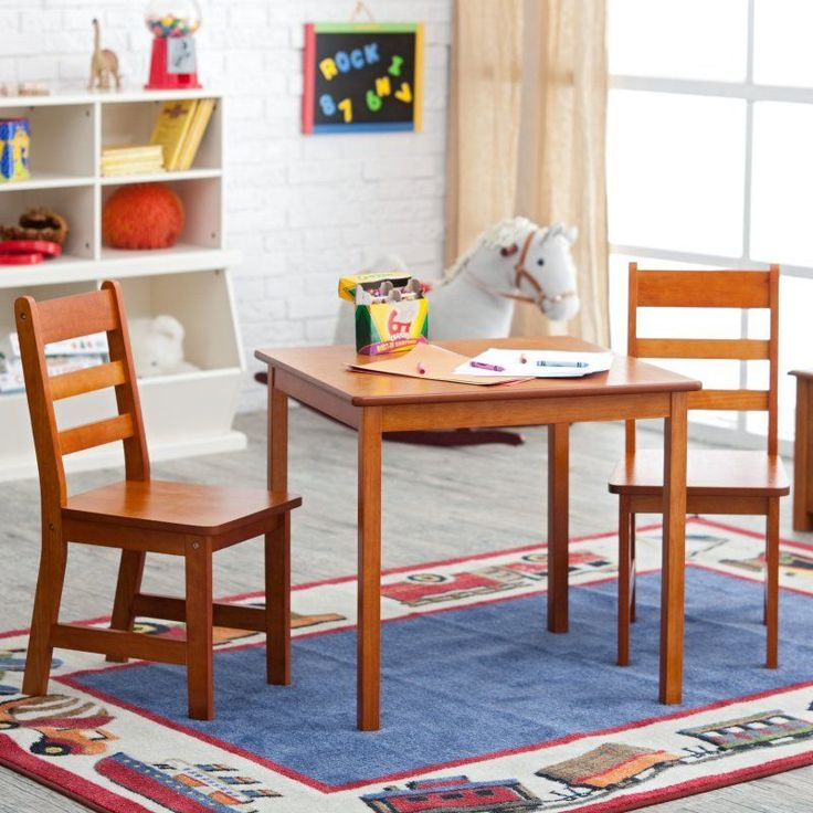 Lipper Childrens Square Table and Chair Set - 514