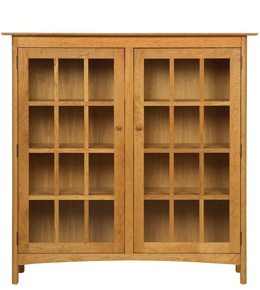 modern shaker 2glass door bookcase