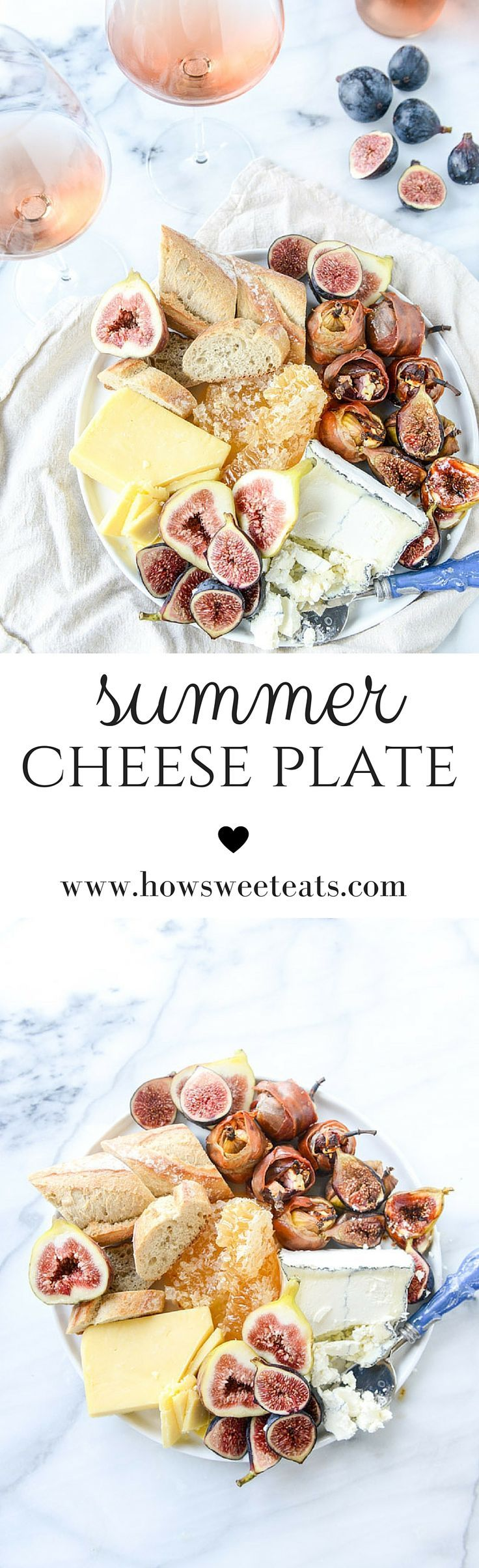Goat Cheese Stuffed Figs and an Easy Summer Cheese Plate by @howsweeteats I howsweeteats.com