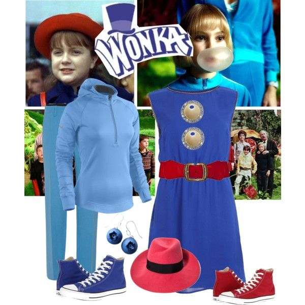 3. Violet Beauregarde by maddie-the-dog on Polyvore