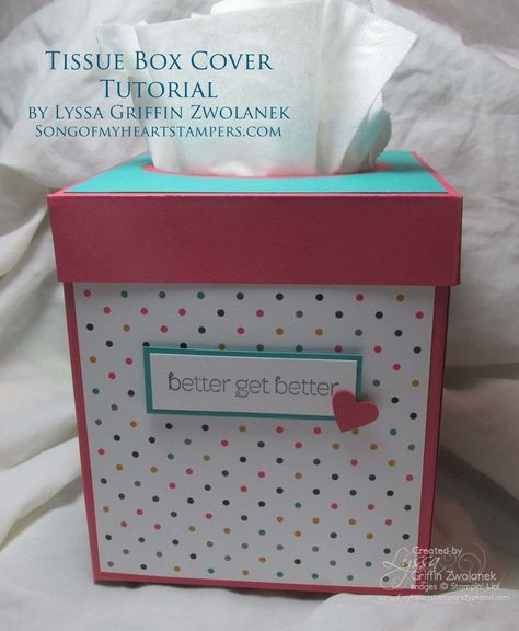 Photo Tutorial: Get Well Soon Tissue Box Cover #SU DSP