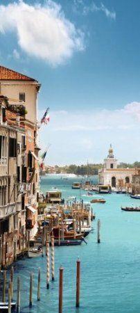 Türtapete Blick durch Canale Grande TT193 90x200cm Tapete Venedig Canale Grande Venedig: Amazon.de: Küche & Haushalt