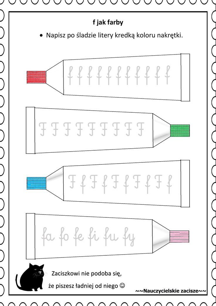 Karta pracy utrwalająca literę f