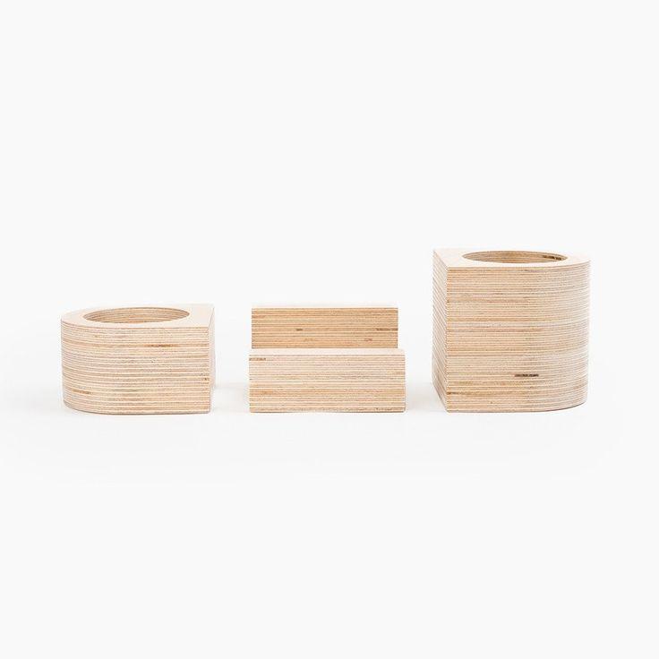 Wooden Desk Organizer Set - Poketo $48