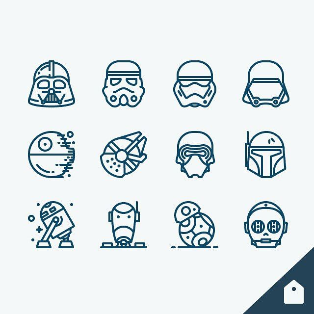 "636 Likes, 26 Comments - Justas Galaburda (@iconutopia) on Instagram: ""Hey Star Wars fans! My Star Wars icon set is finally available for free! Get it on iconstore.co!…"""