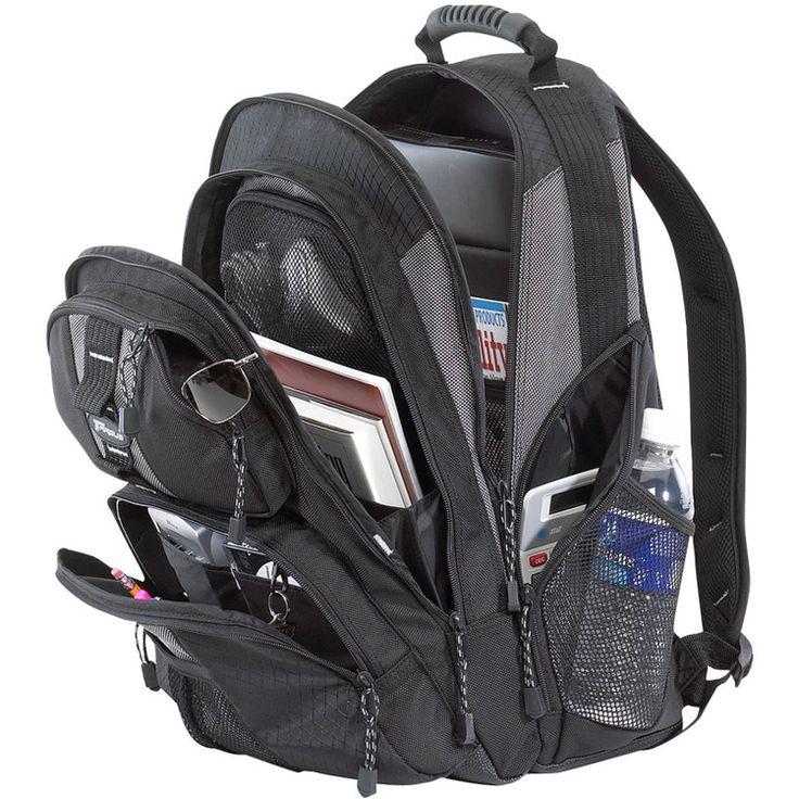 """Targus 15 Mochila con compartimento acolchado para portátiles con tamaños de pantalla de hasta 15-16"""". Bolsillo frontal con relleno y revestimiento de protección para proteger Nyflex #PDA o gafas de sol contra el rayado; También incluye audífonos, salida #jack para uso al llevar a reproductores de #CD o #MP3. Su bolsillo frontal incluye tarjetero, bolígrafos y clip para llaves."""