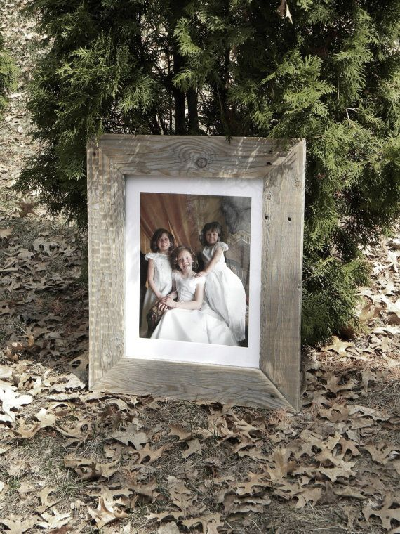 11 x 14 Frame, Reclaimed Wood, Large Wooden Frame, Distressed Wood, Photo Frame, Rustic Home Decor, Repurposed Pallet, Wood Picture Frames on Etsy, $35.00