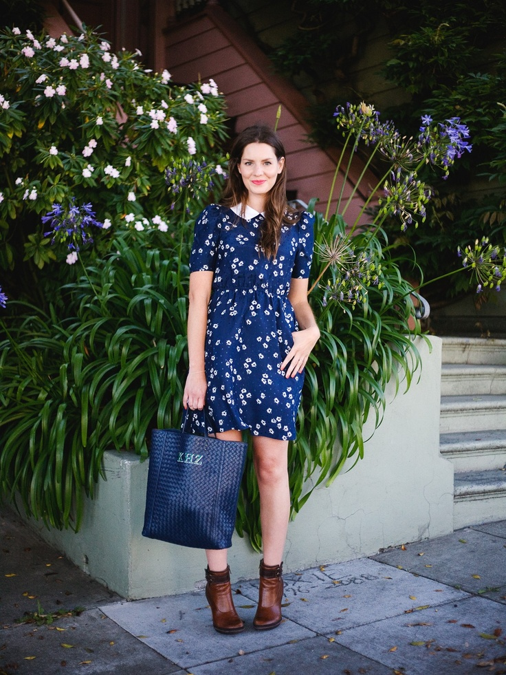 Refinery29 Shops: Collared Silk Dress - Keds Apparel