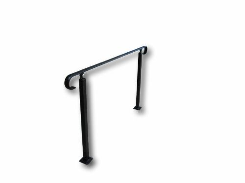 Wrought Iron Style Exterior Handrail with Two Posts