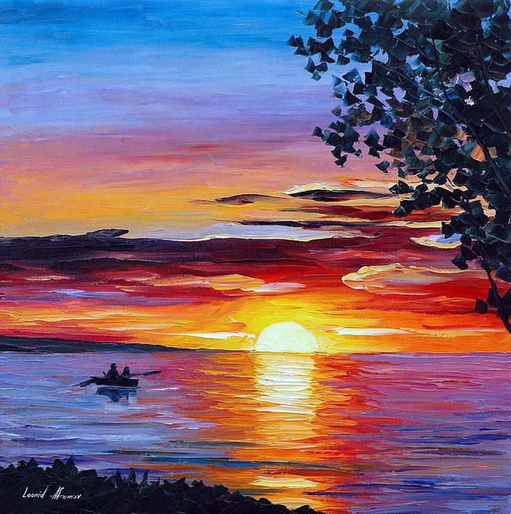 Закат на море картинки красками, красивая надписью важная