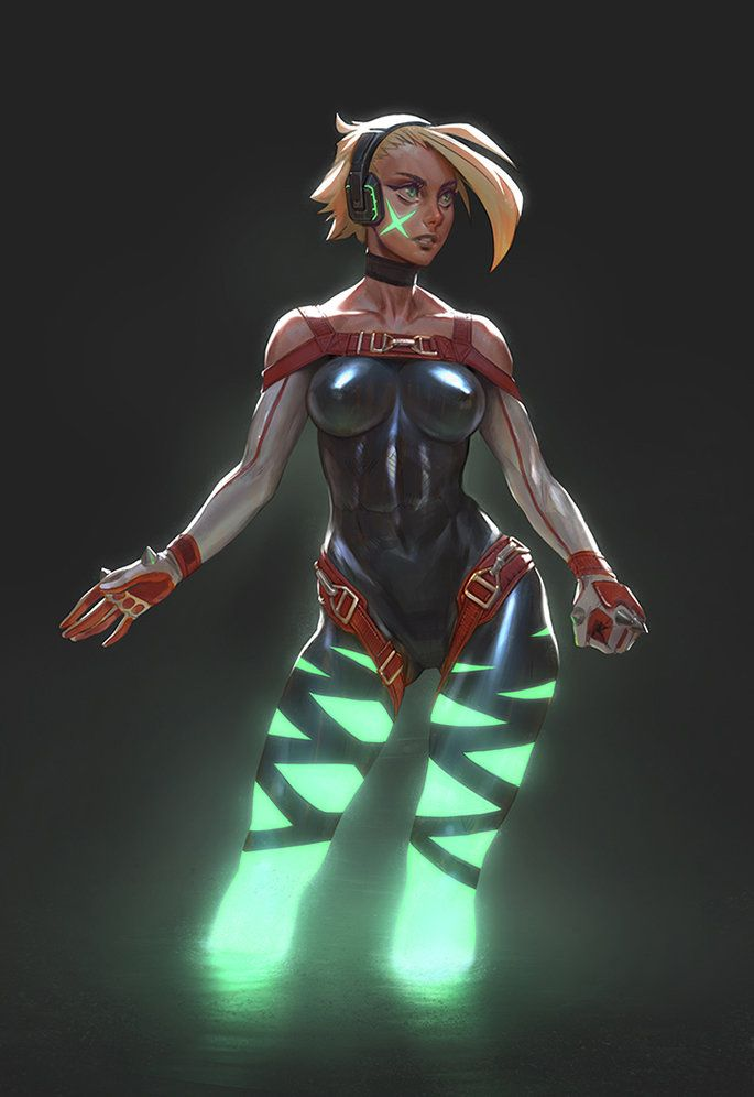 ArtStation - Xbox One Girl, Gui Guimaraes via cgpin.com
