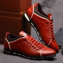 Merkmak Men Leather Shoes Casual Autumn Fashion Shoes For Men Designer Shoes Comfortable Big Size 38- 47 Mens Shoes Soft Loafers