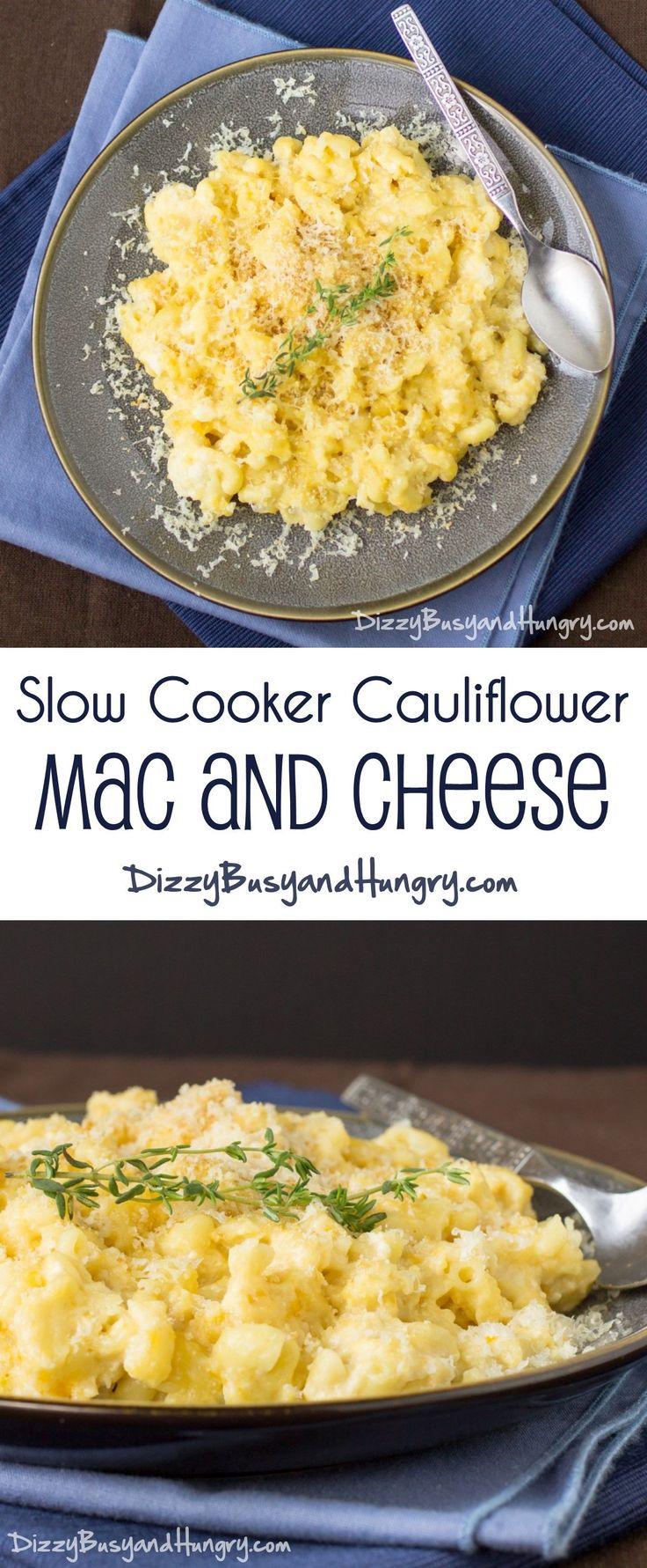 Slow Cooker Cauliflower Mac and Cheese - Kids love the taste, moms ...