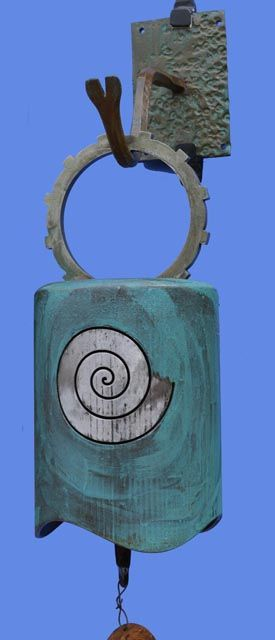 Bell Wind Chime Gong Plasma Cut Doorbell Recycled