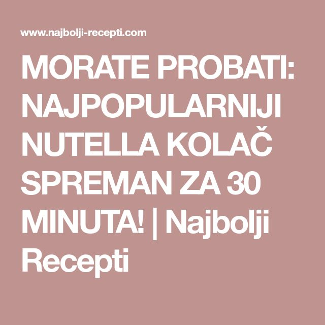 nutella the 30 best recipes pdf