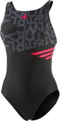 adidas Badeanzüge Damen schwarz/anthrazit