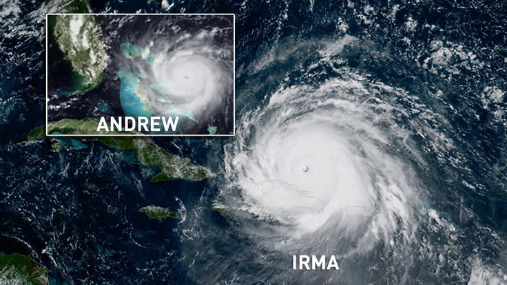 Hurricane Andrew Was a Monster; Irma Could Blow It Out of the Water