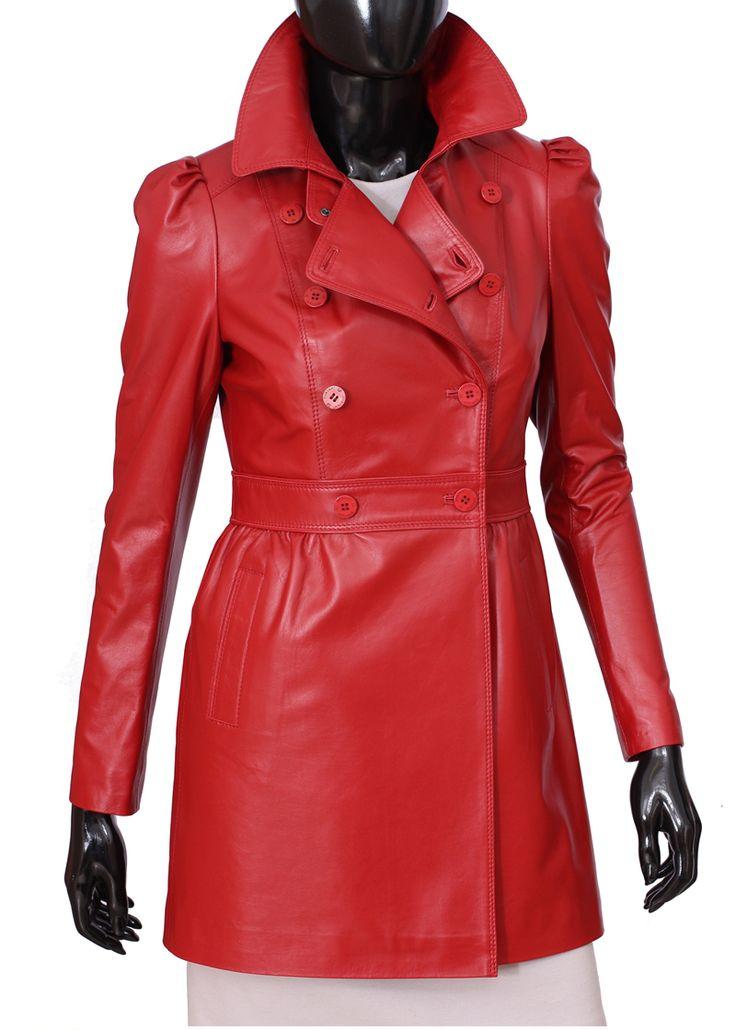 Płaszcz skórzany damski DORJAN ELZ461
