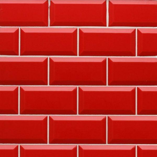 Bizoute Red Gloss Metro Effect Wall Ceramic Tile 10 20 Cool Wallpapers For Phones Wall Tiles Ceramic Tiles