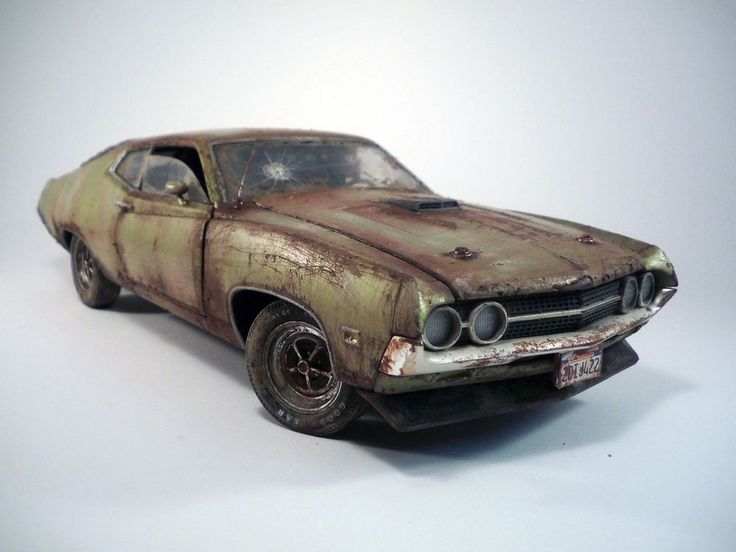 1970 Ford Torino Cobra Barn Find Custom Weathered Unrestored Autoworld 1 18
