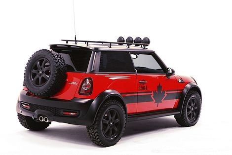 Not really the classic but I can't stop adding this. Designers developed off road MINI Cooper S