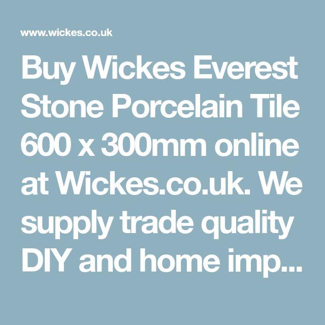 Wickes Everest Stone Porcelain Wall & Floor Tile 600 x ...