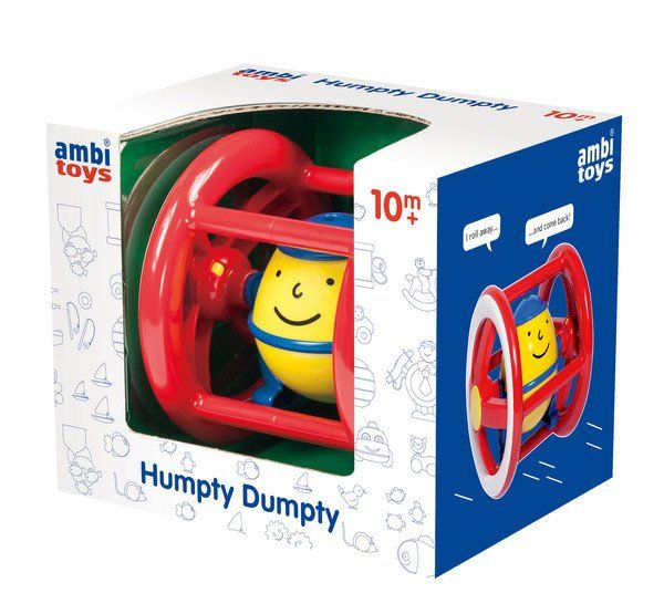 Roll Humpty Dumpty away and he will come back automatically. Endless repetition both entertains and encourages pursuit. Length: 13cm. Ages: 10 months plus