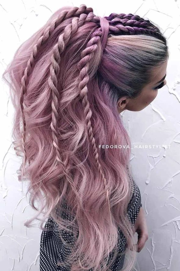 Lace Frontal Wigs Pink Hair Blonde Hair With Light Pink Highlights For Girl – wigbaba