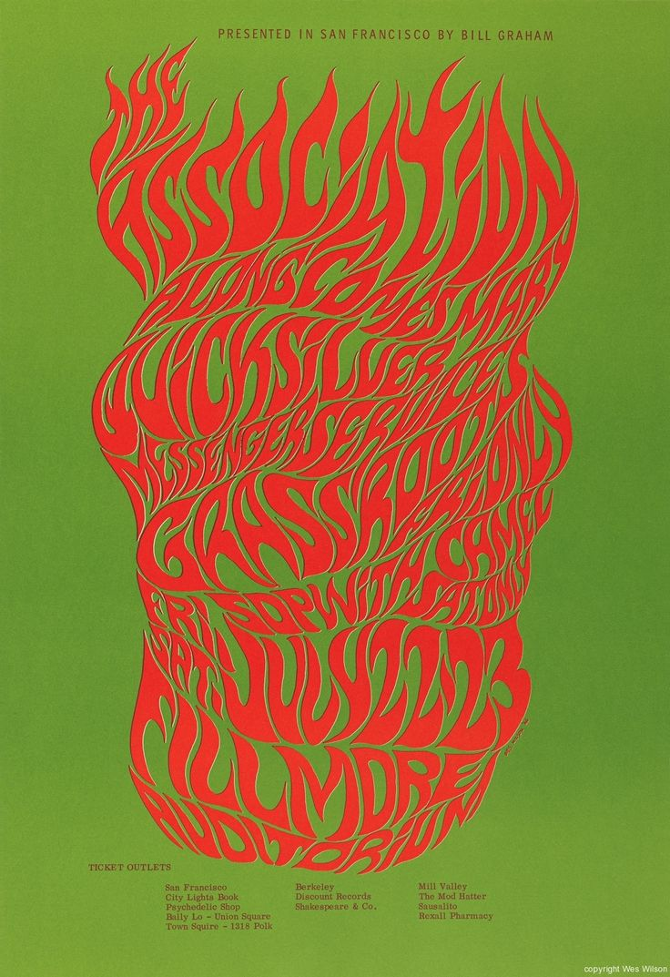 Quick poster design - Wes Wilson Fillmore Gig Poster